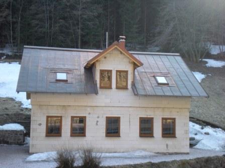 Pec pod Sněžkou 2009 - měděná falcovaná krytina